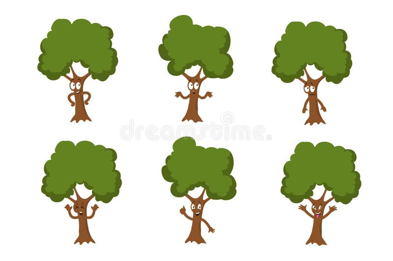 Cartoon Funny Green Tree Vector Characters Isolated Stock Vector Illustration Of Element Growth 115043883 Find & download free graphic resources for trees cartoon. cartoon funny green tree vector