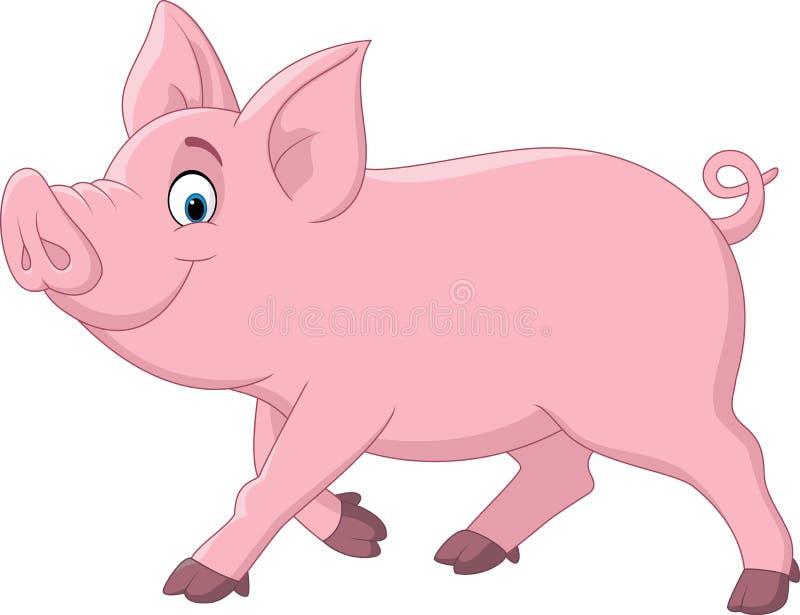 Cartoon funny pig royalty free illustration