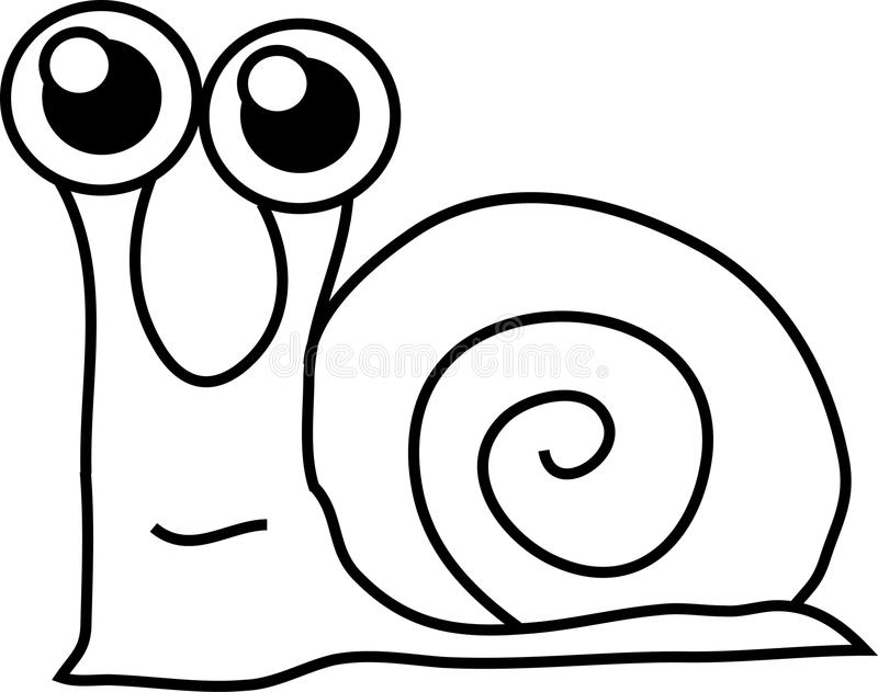 Download Cartoon funny snail stock vector. Image of funny, drawing - 9533628