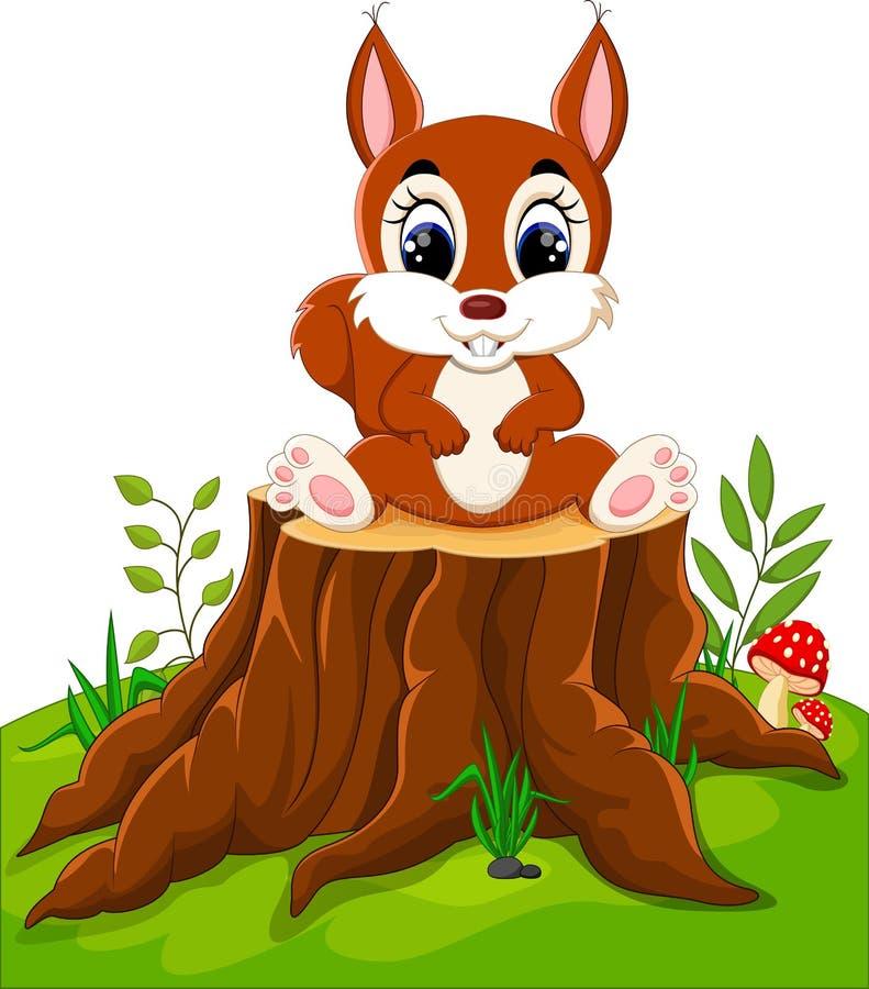 Download Cartoon funny squirrel stock vector. Illustration of fuzzy - 73472837