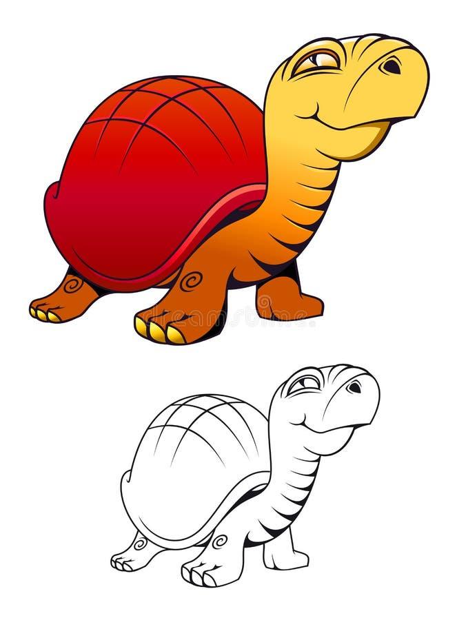 Cartoon funny turtle royalty free stock photography