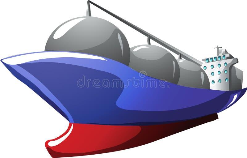 Cartoon gas tanker. Gas tanker in cartoon style as a illustration stock illustration