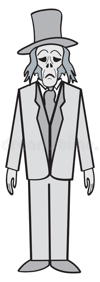 Download Cartoon Ghost stock vector. Image of undead, grave, treat - 26293249