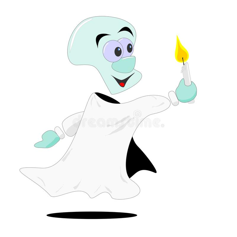 Download Cartoon ghost & candle stock vector. Image of fantasy - 20157234
