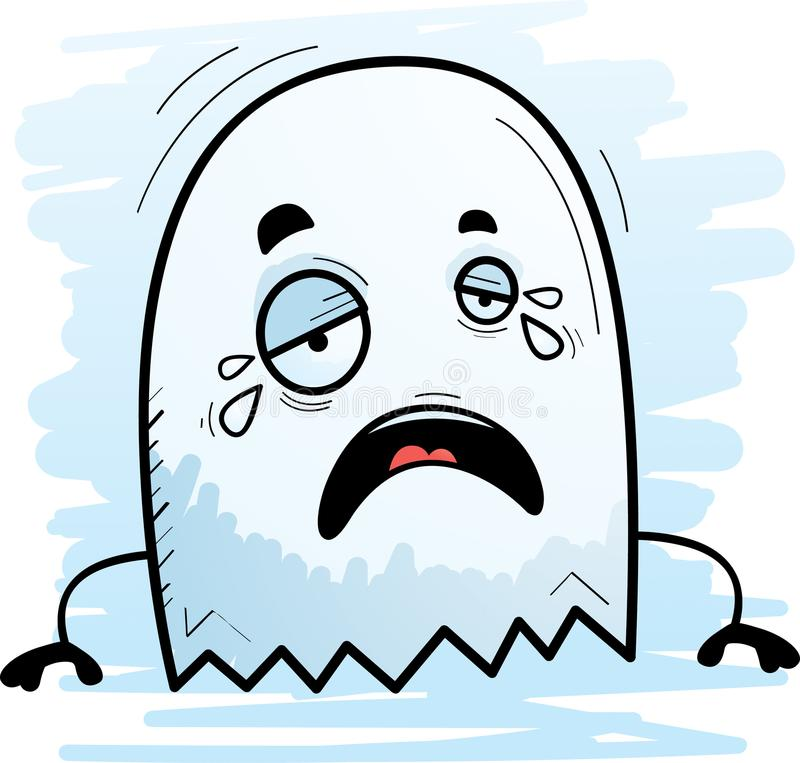 Cartoon Ghost Crying royalty free illustration