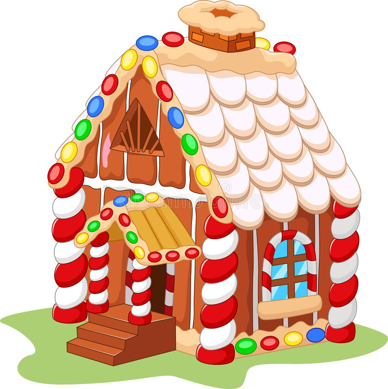 cartoon gingerbread house stock vector illustration of cake 55851837 rh dreamstime com gingerbread house clip art free christmas gingerbread house clip art
