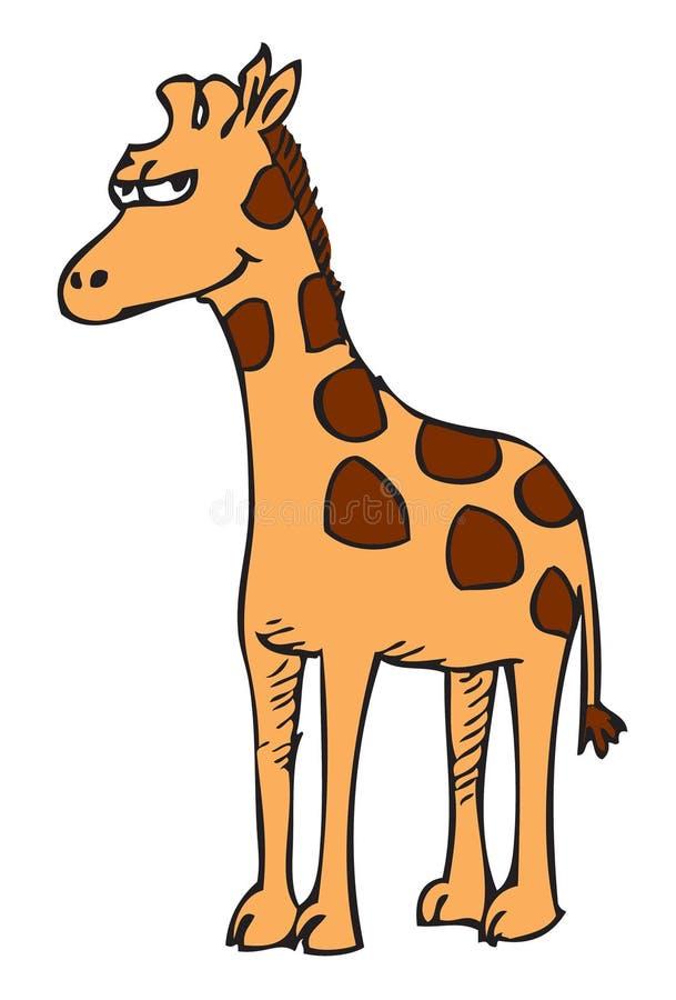 Cartoon giraffe royalty free illustration