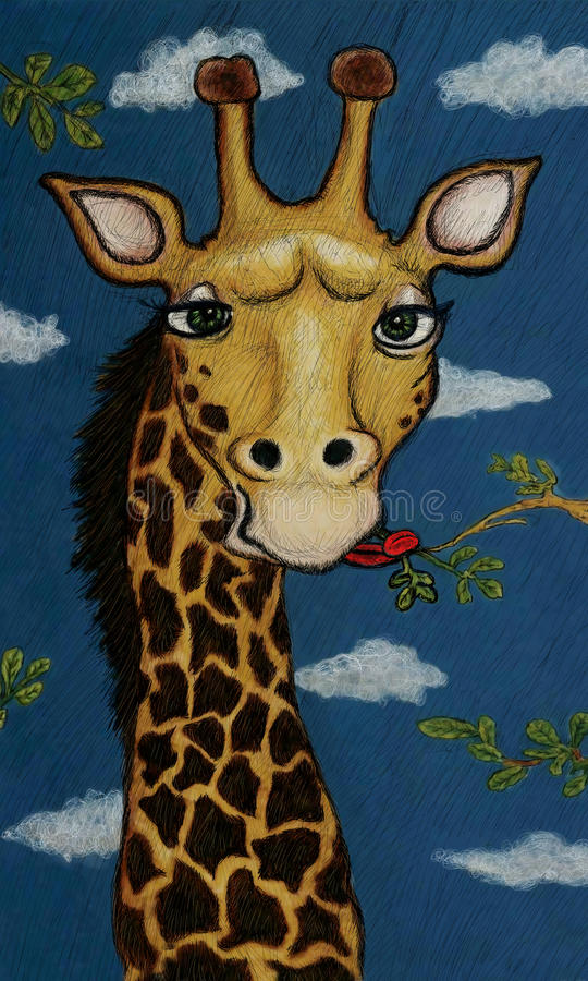 Download Cartoon Giraffe Illustration Stock Illustration - Image: 23506817