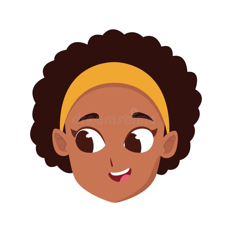 Cartoon Girl Curly Hair Stock Illustrations 4 658 Cartoon Girl