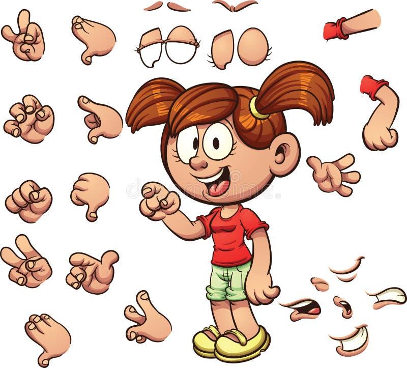 Cartoon girl vector illustration