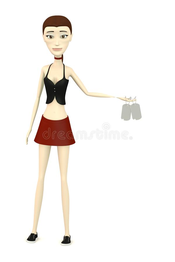 Download Cartoon Girl With Dog - Tag Stock Illustration - Image: 29301909
