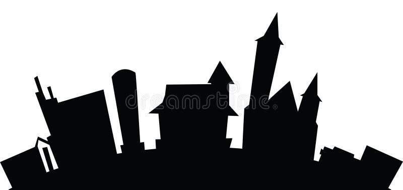 Cartoon Glencoe, Ontario. Cartoon skyline silhouette of the village of Glencoe, Ontario, Canada vector illustration