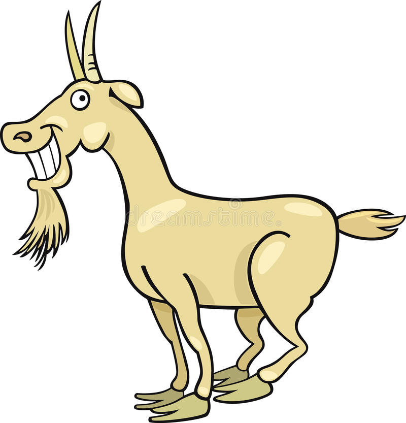 Cartoon Goat Stock Photo