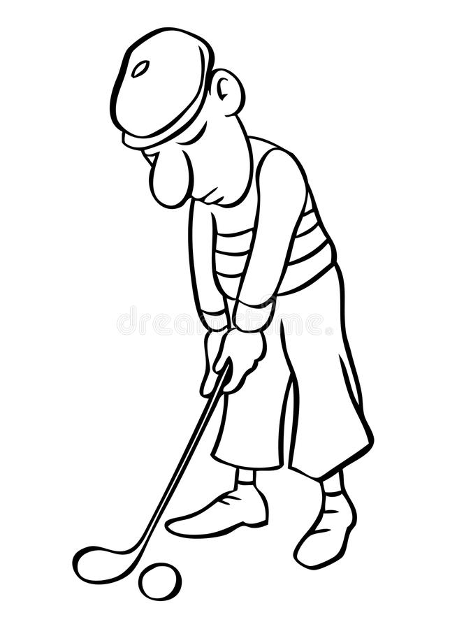 how to draw a funny cartoon golfers