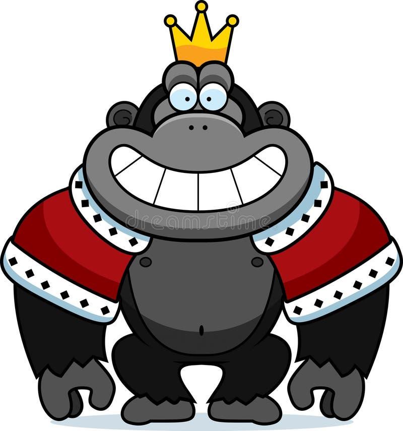 Cartoon Gorilla King vector illustration