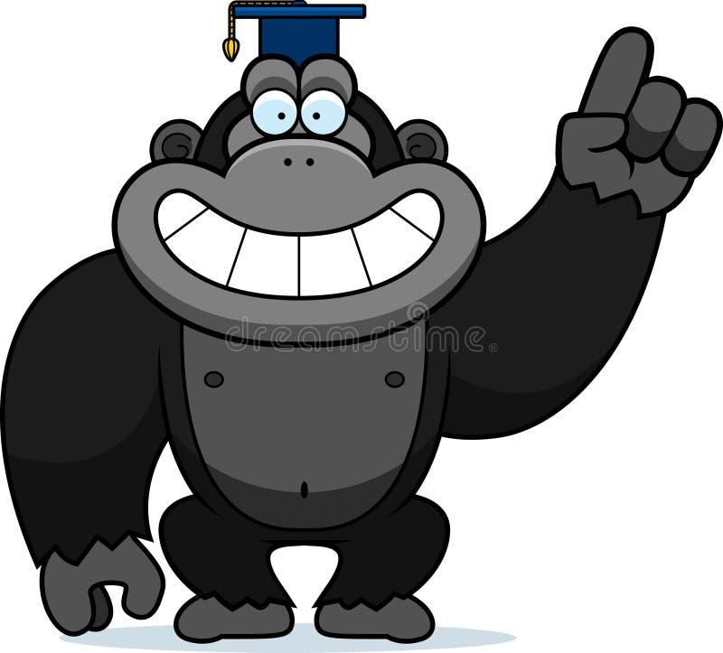Cartoon Gorilla Professor royalty free illustration