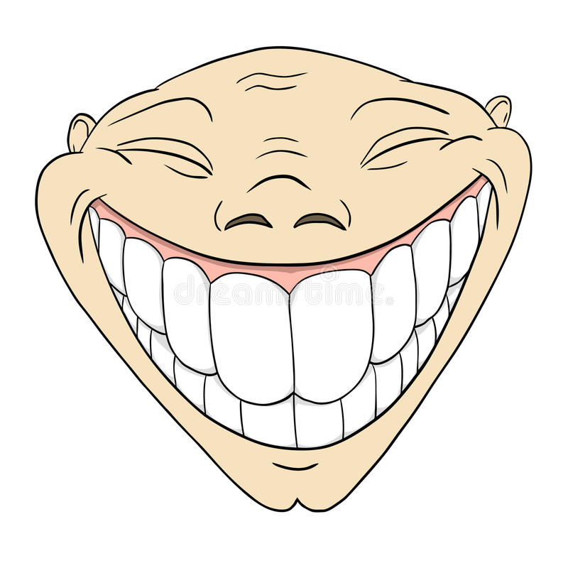 Download Cartoon Grotesque Funny Face With Big Toothy Smile Stock Vector - Image: 18122413