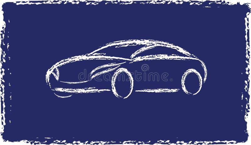 Cartoon grunge silhouette of a car vector illustration