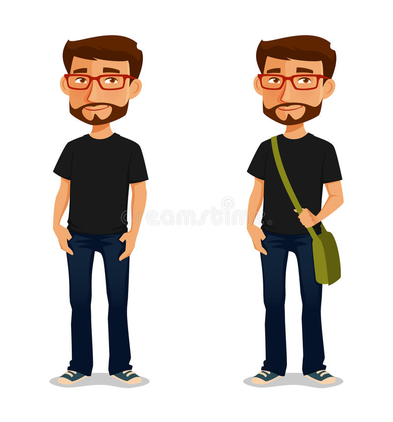 Free Cartoon Guy With Glasses Stock Photos - 50885283