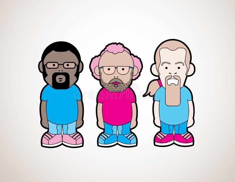 Download Cartoon Guys stock vector. Image of cartoon, comic, blue - 27223200