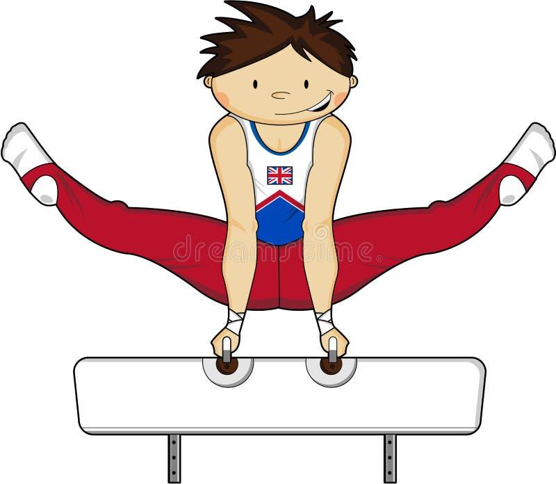 Cartoon Gymnast Stock Vector. Illustration Of