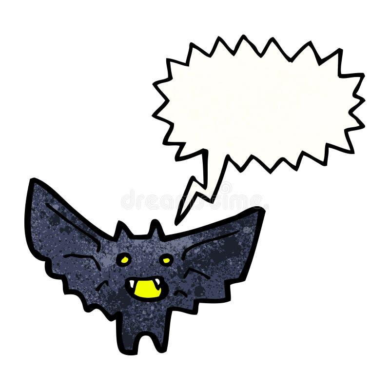 Cartoon halloween bat. Retro cartoon with texture. Isolated on White vector illustration