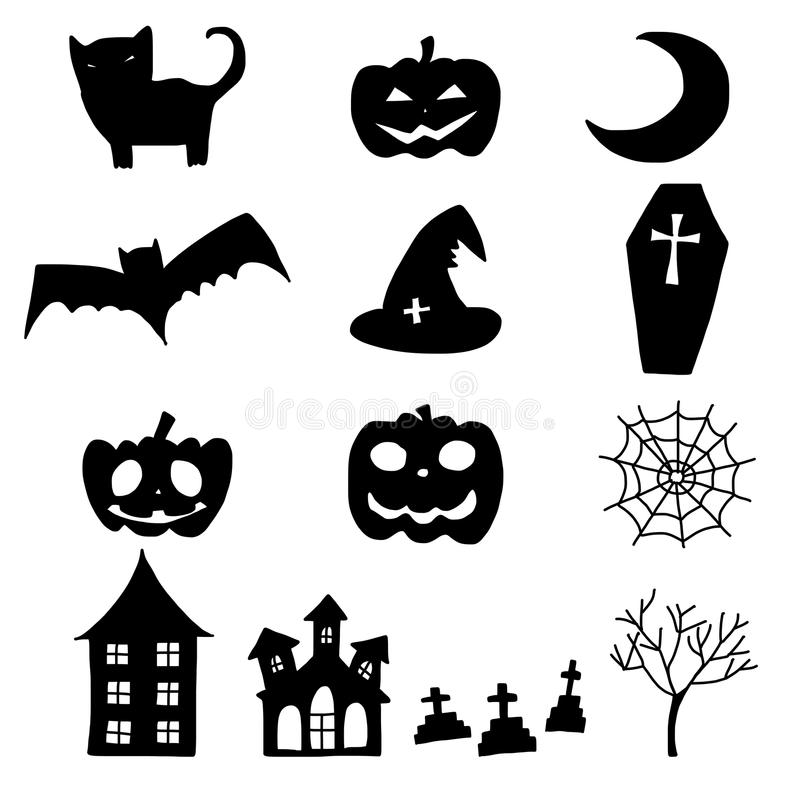 download cartoon halloween doodle element stock vector illustration of funny comic 45109334 - Cartoon Halloween Drawings