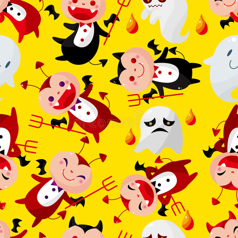 Cartoon halloween ghost seamless pattern. Vector,illustration royalty free illustration