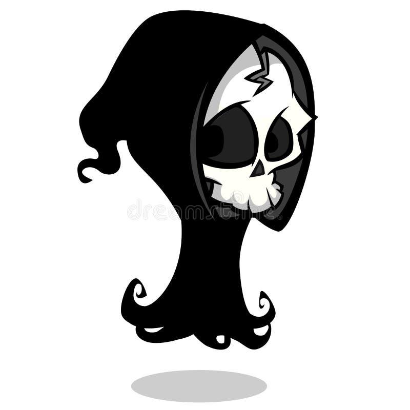 cartoon halloween grim reaper stock vector illustration of rh dreamstime com cartoon skeleton head template cartoon skeleton with headphones