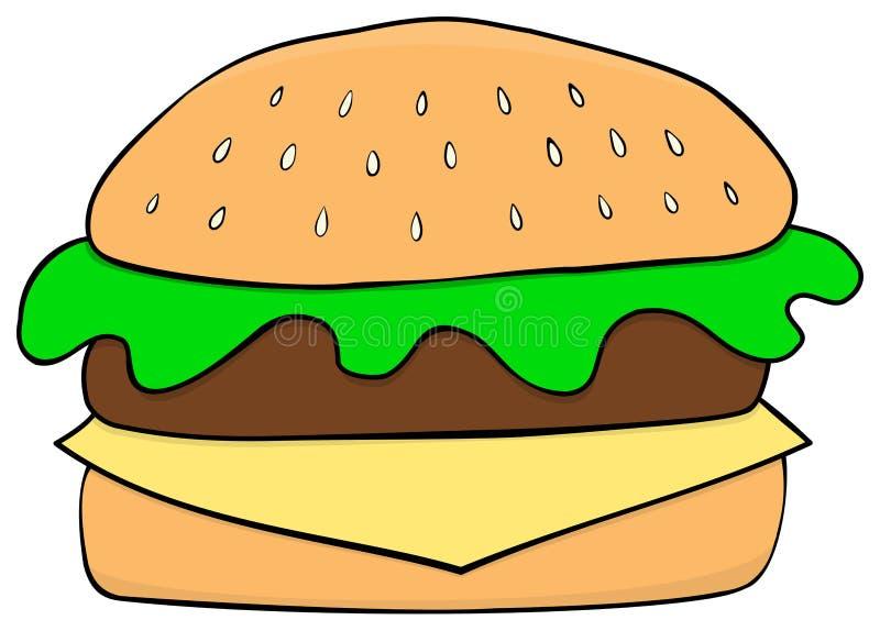 cartoon hamburger hand drawn style stock vector illustration of rh dreamstime com cartoon burger pictures cartoon burger pictures