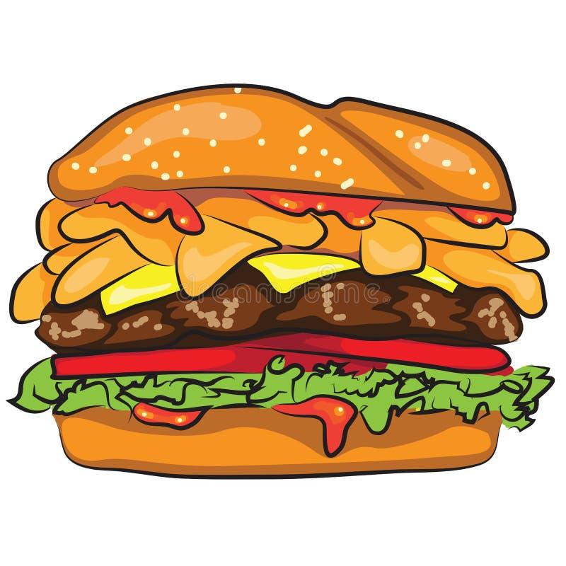 Cartoon Hamburger stock illustration