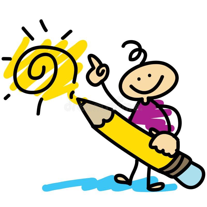 Cartoon hand-drawn artist concept. Illustration vector illustration
