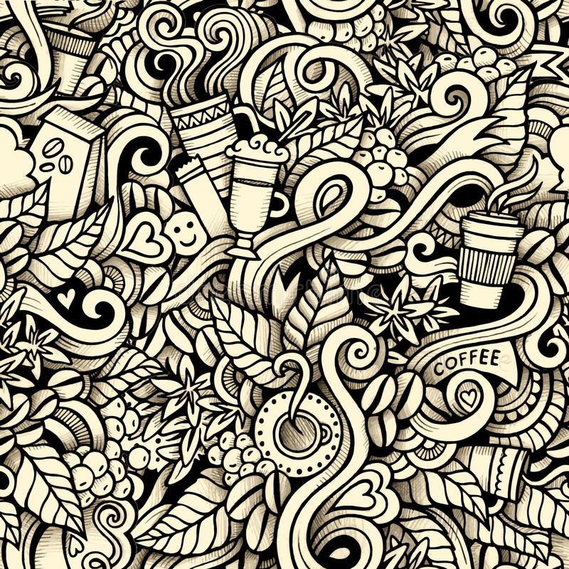 Cartoon hand-drawn doodles on the subject of royalty free illustration