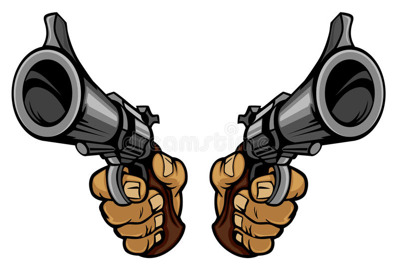 Download Cartoon hands holding guns stock vector. Image of collection - 19237655