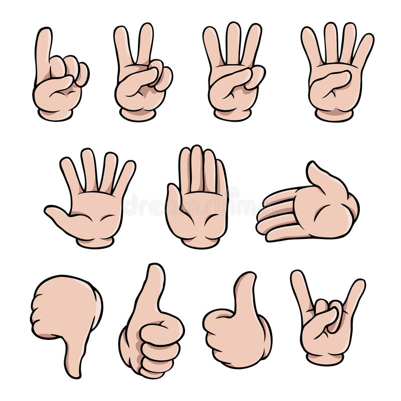 Download Cartoon Hands Set Stock Photos - Image: 28395293