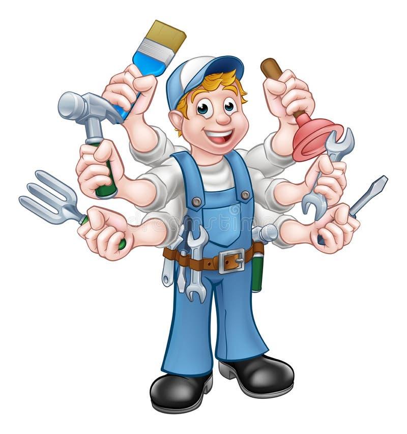 Free Cartoon Handyman Stock Photo - 83415450