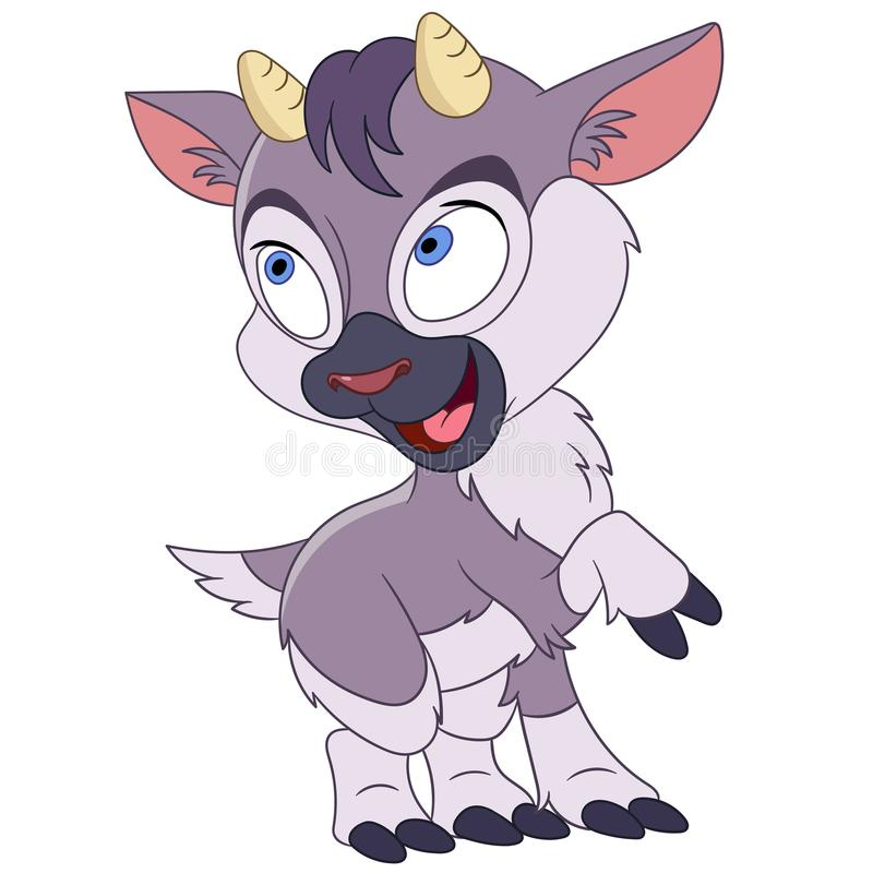 Cartoon happy baby goat animal stock images