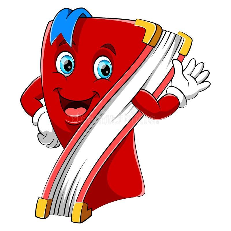 A cartoon happy book character stock illustration