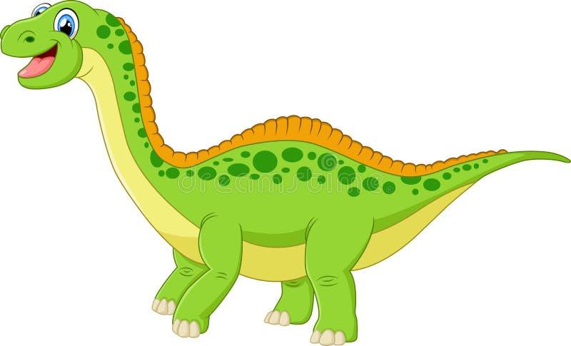 Cartoon happy dinosaur. Illustration of cute Cartoon happy dinosaur vector illustration