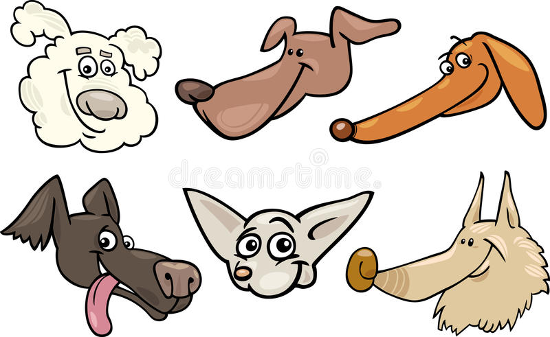 Download Cartoon Happy Dogs Heads Set Stock Vector - Image: 28445381