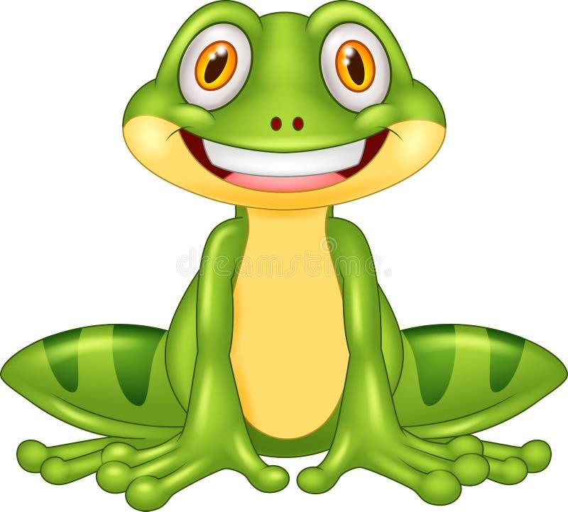 Free Cartoon Happy Frog Stock Photography - 60001942