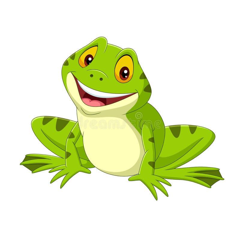Free Cartoon Happy Frog On White Background Stock Images - 173673814