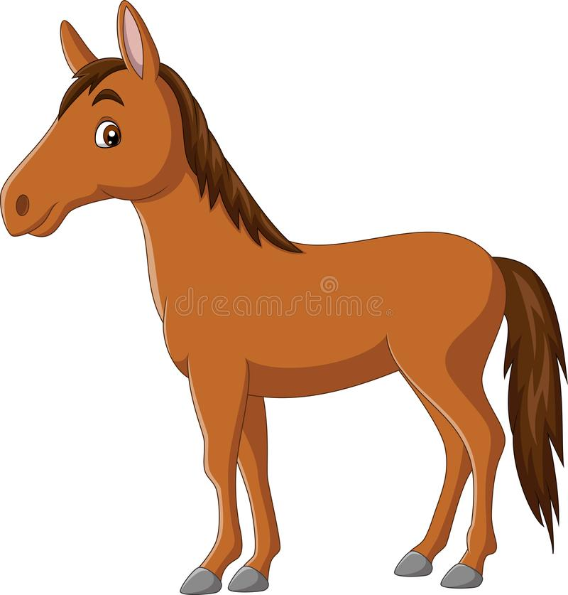 Free Cartoon Happy Horse On White Background Royalty Free Stock Photos - 161653698