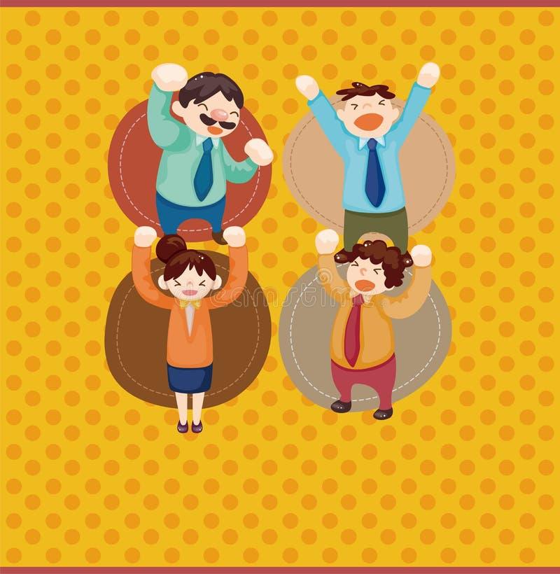 Download Cartoon Happy Office Workers  Card Stock Vector - Image: 22504837