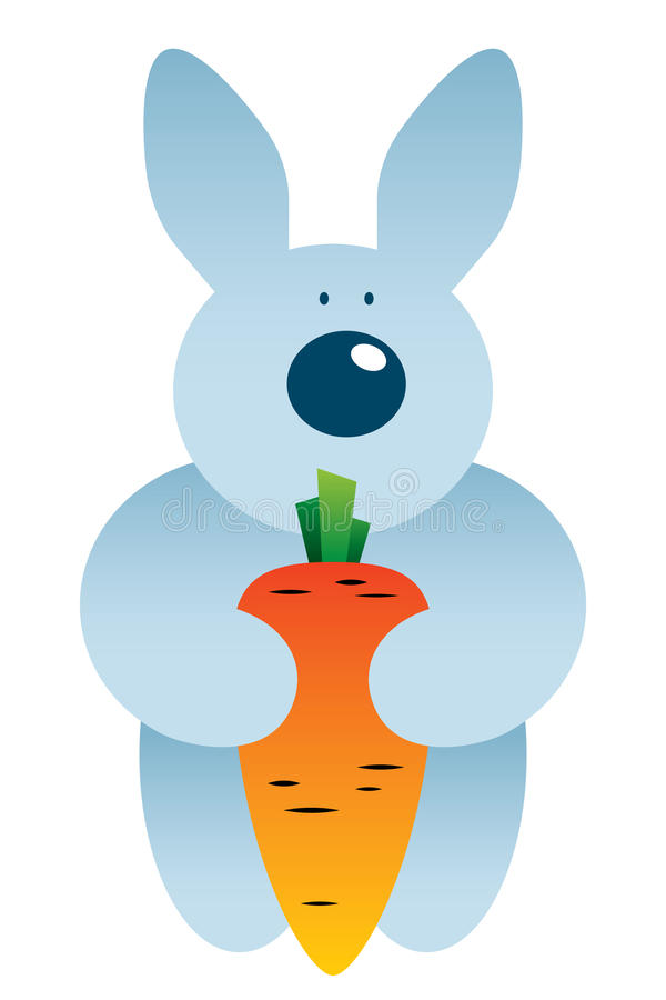Download Cartoon hare and carrot stock vector. Image of illustration - 21792041