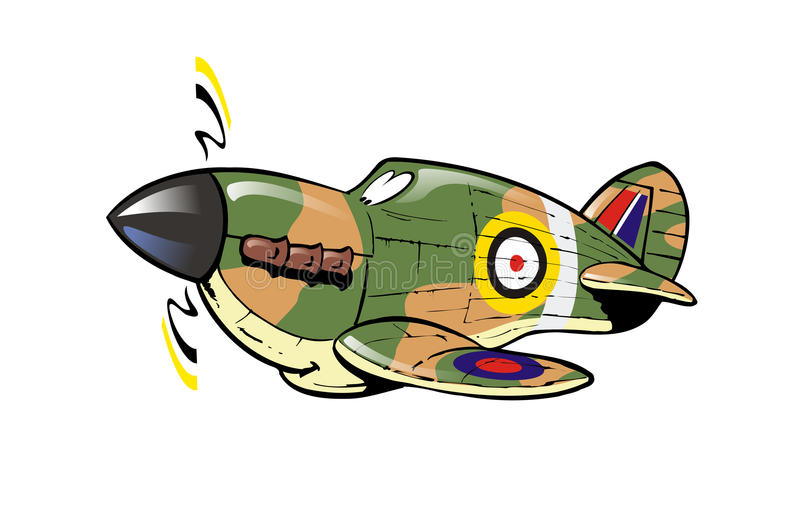 Cartoon Hawker Hurricane stock illustration