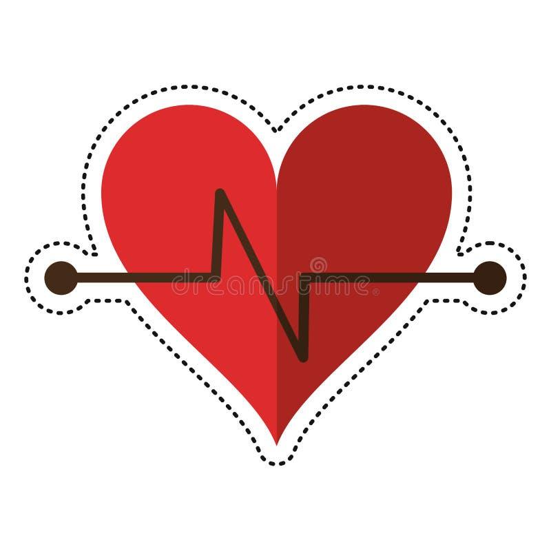Cartoon Heart Beat Fitness Symbol Stock Illustration