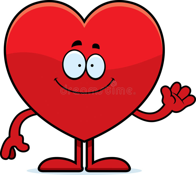 Cartoon Heart Waving vector illustration