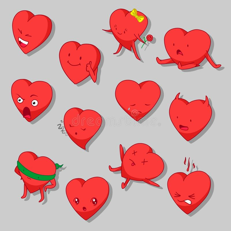 Cartoon Hearts Vector Clip Art royalty free illustration