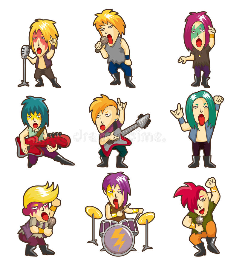 Download Cartoon Heavy Metal Rock Music Band Stock Vector - Image: 20785781